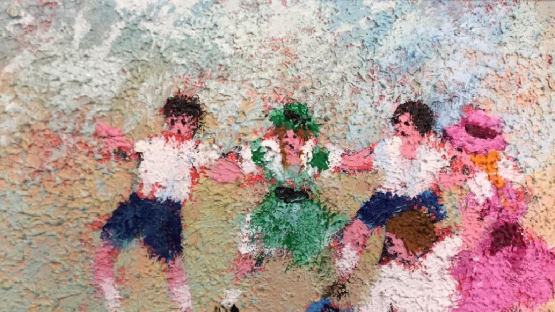 Dancing Rabbis Oil Painting - 5