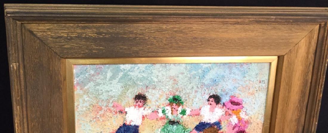 Dancing Rabbis Oil Painting - 9
