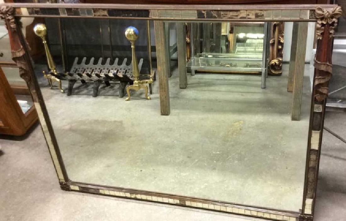 Antique Wood Mirror Mosaic Mirror - 3
