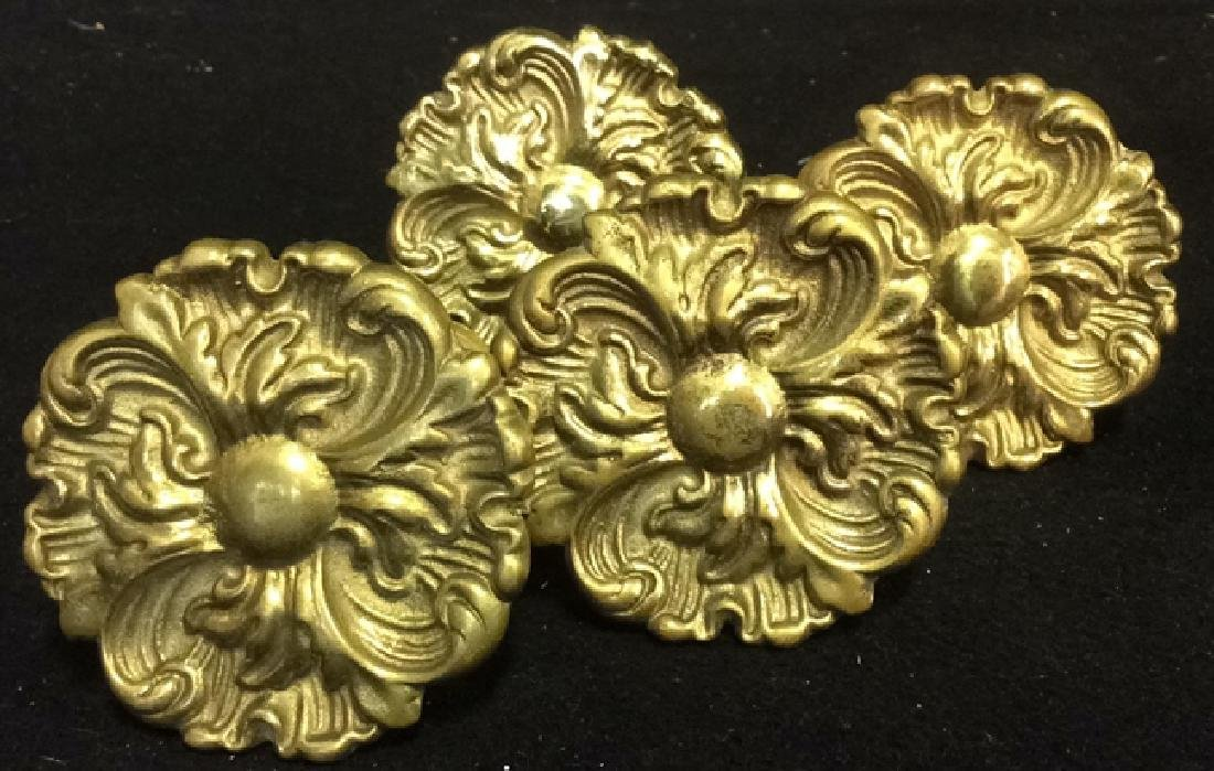 Brass Curtain Tie Backs Set of 4