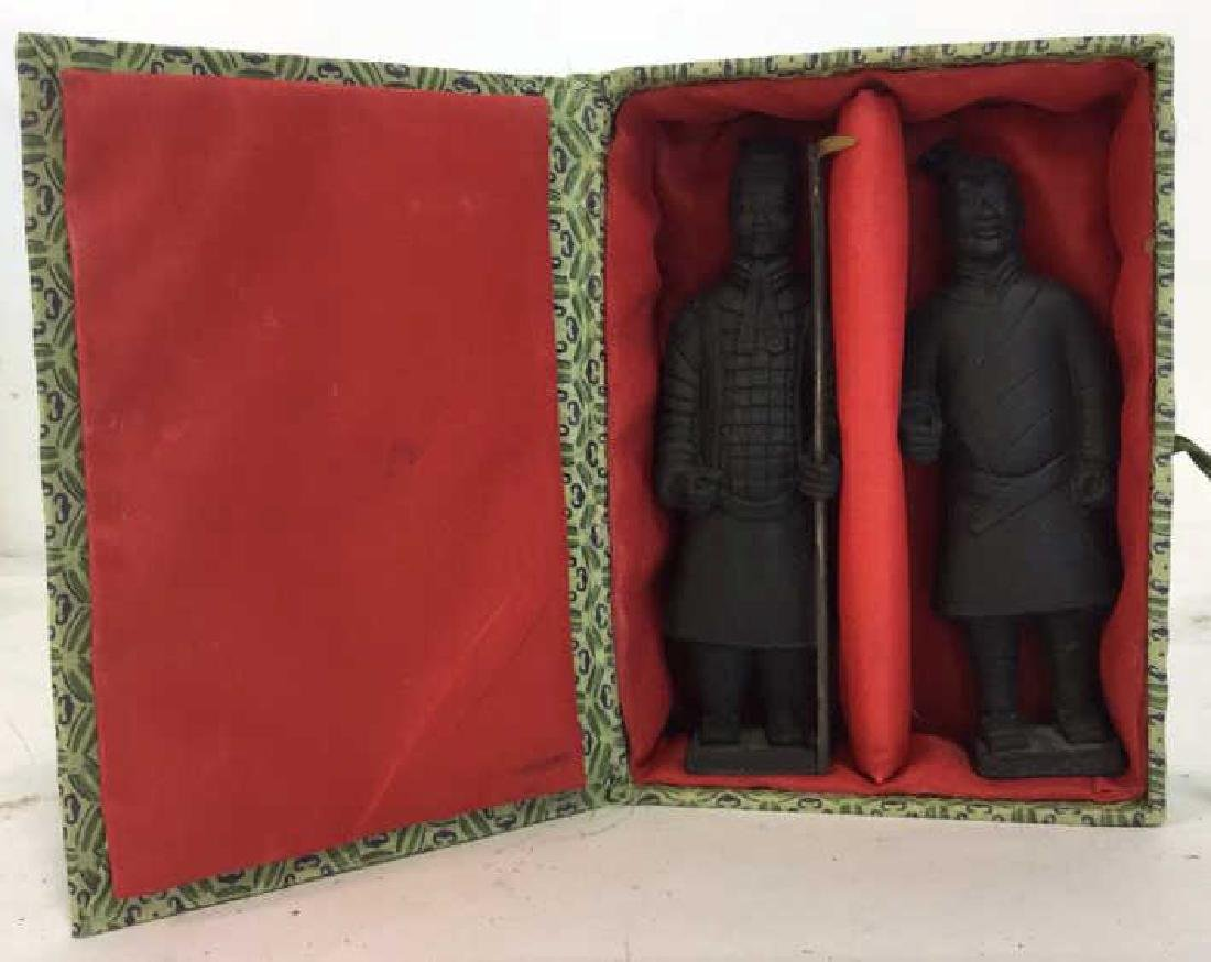 Pair Chinese Terra Cotta Warrior Soldiers of