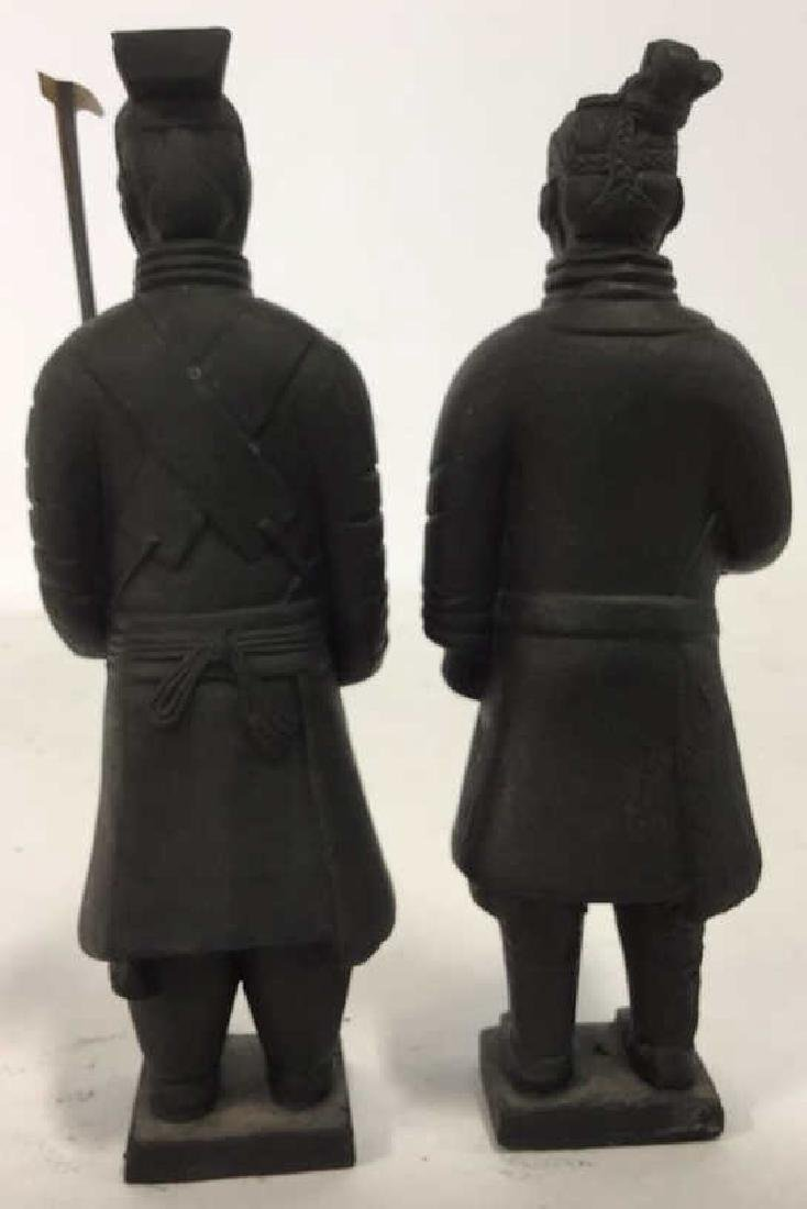Pair Chinese Terra Cotta Warrior Soldiers of - 7