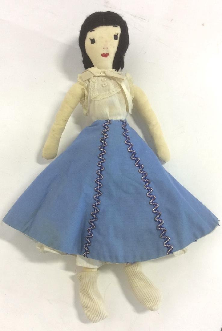 2 Collectible Primitive Style Cloth Dolls