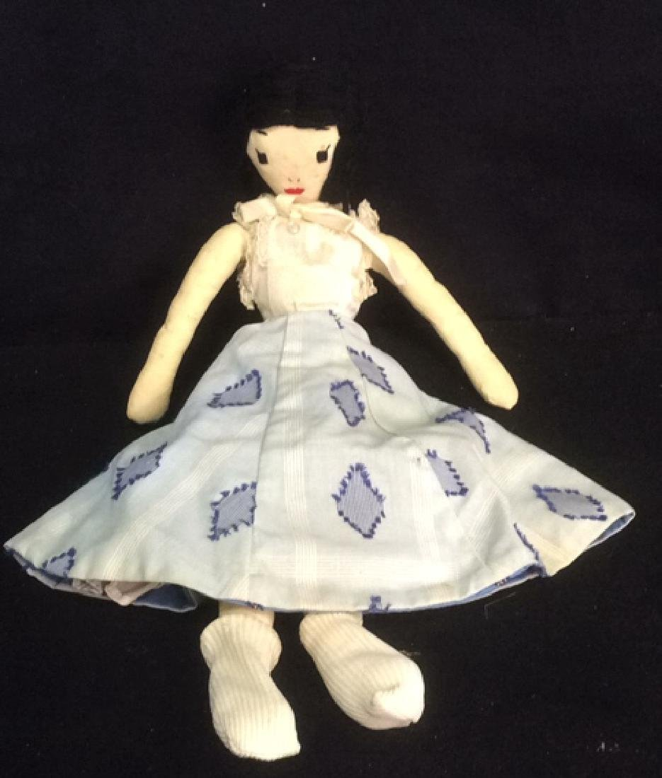 2 Collectible Primitive Style Cloth Dolls - 2