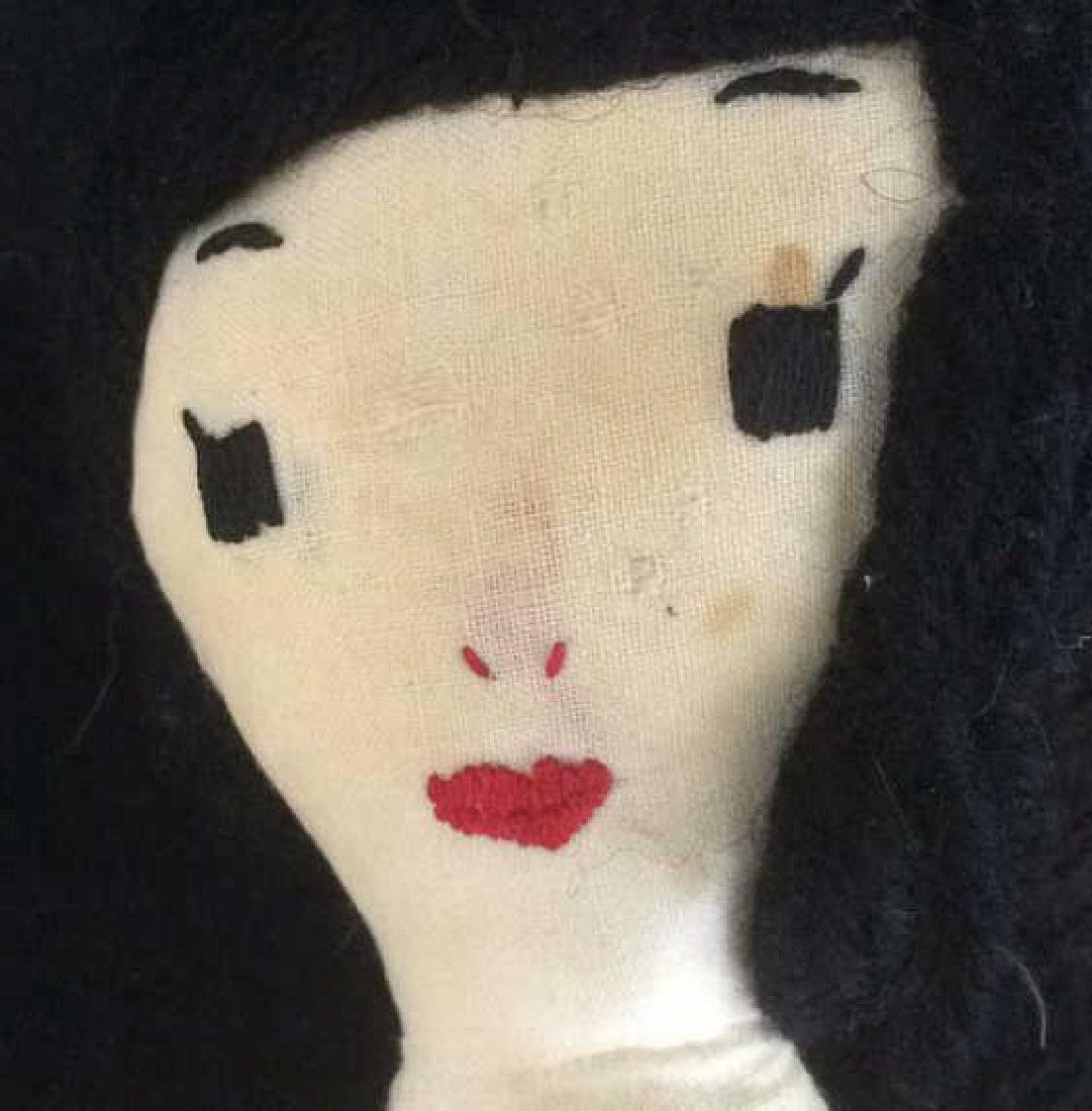 2 Collectible Primitive Style Cloth Dolls - 3