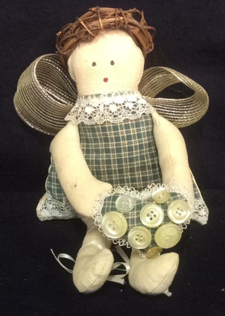 2 Collectible Primitive Style Cloth Dolls - 8