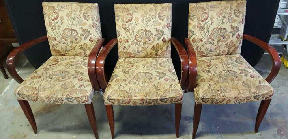 Set of 7 Vintage Mahogany Upholstered Dining - 2
