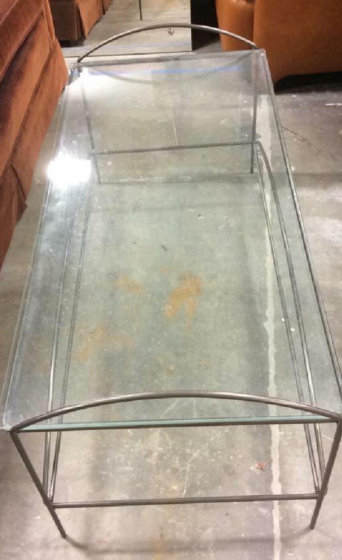 Vintage tubular Metal and Glass Low Table - 2