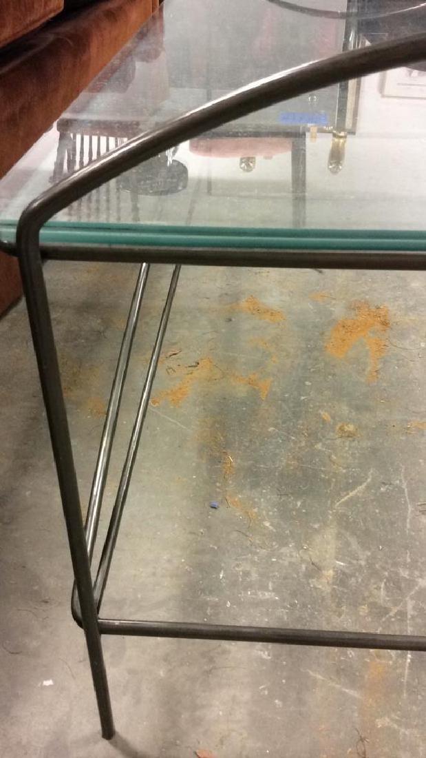 Vintage tubular Metal and Glass Low Table - 4