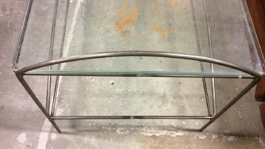 Vintage tubular Metal and Glass Low Table - 7