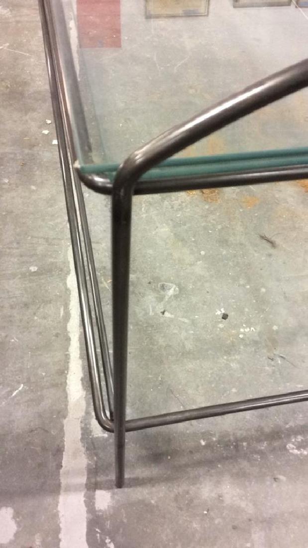 Vintage tubular Metal and Glass Low Table - 8