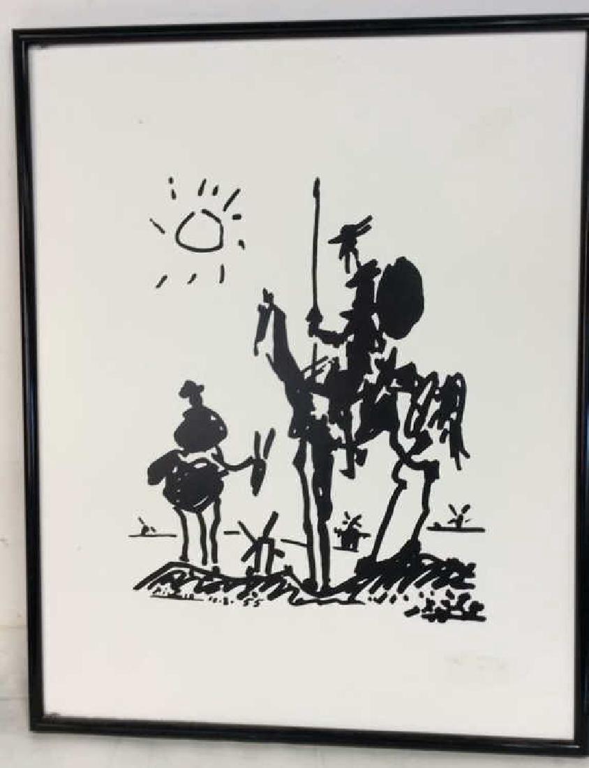 Framed Picasso Don Quixote Print