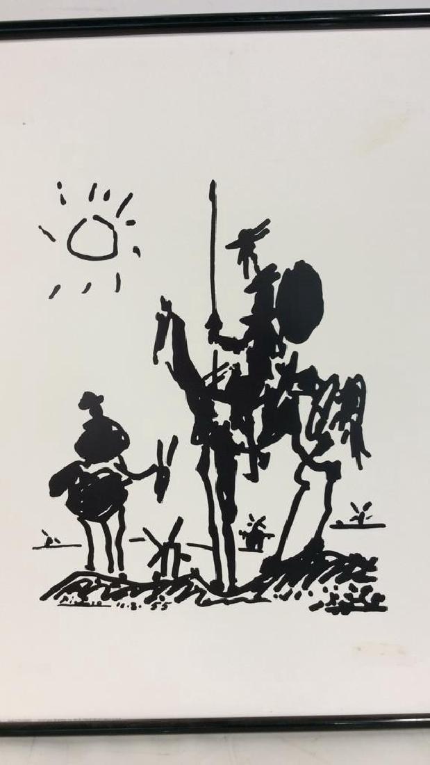 Framed Picasso Don Quixote Print - 2