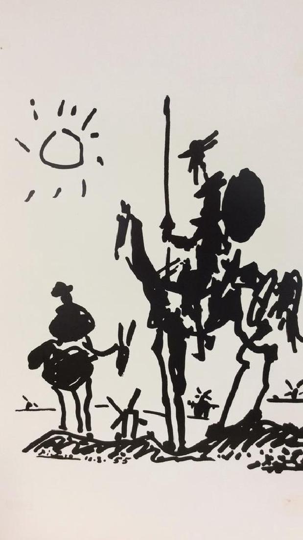 Framed Picasso Don Quixote Print - 3
