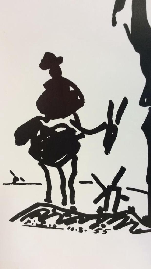 Framed Picasso Don Quixote Print - 6