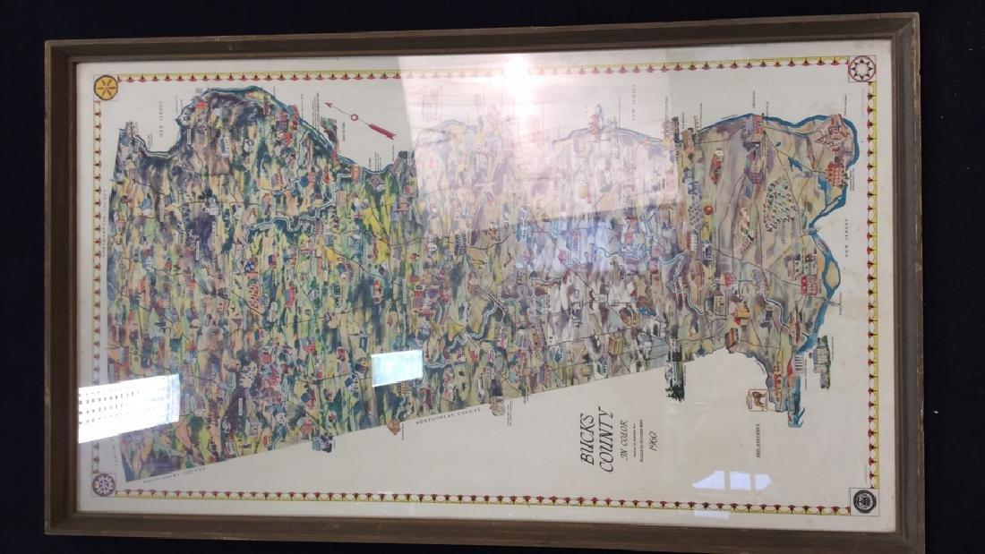 Framed Vintage Poster Of Bucks County Pennsylvania