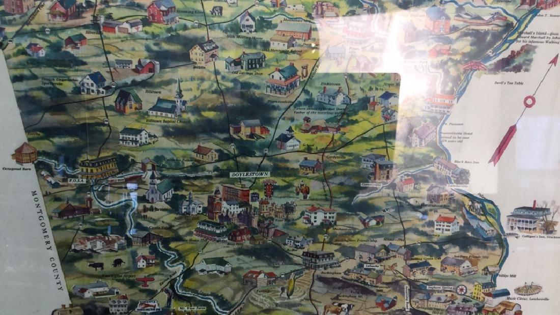 Framed Vintage Poster Of Bucks County Pennsylvania - 3