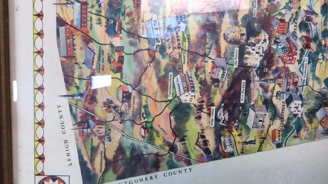 Framed Vintage Poster Of Bucks County Pennsylvania - 9
