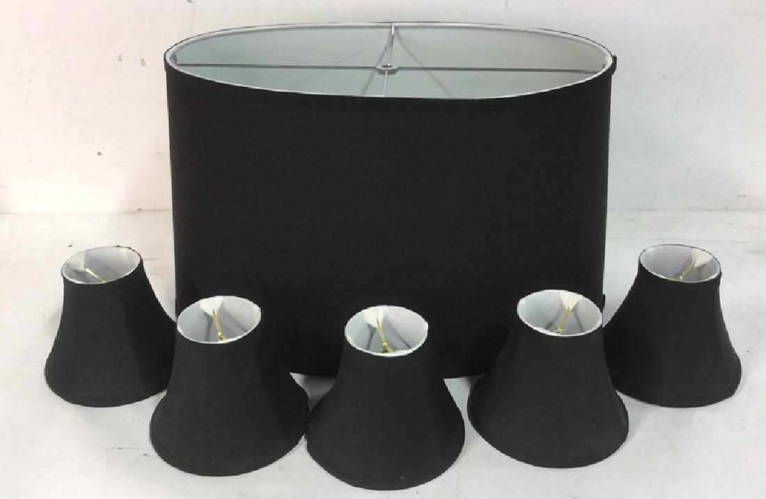 Group Lot of Black Lamp Shades