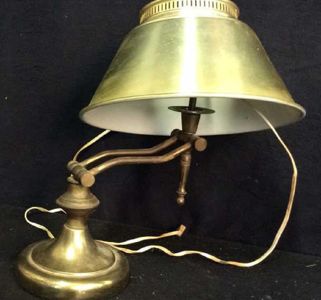 2 Brass Chrome Vintage lamps