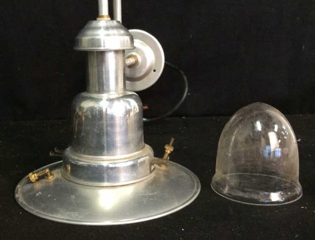 2 Brass Chrome Vintage lamps - 5