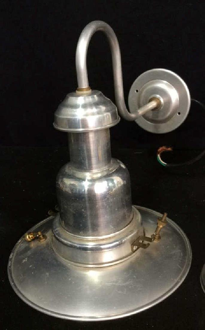2 Brass Chrome Vintage lamps - 7