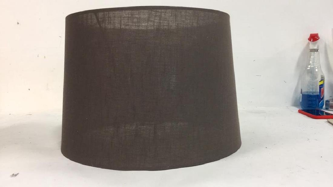 Group Lot Lamp Shades in Brown Tones - 10