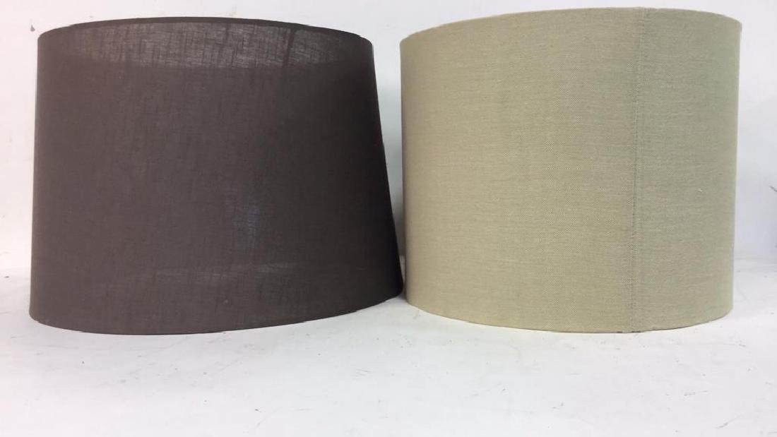 Group Lot Lamp Shades in Brown Tones - 2