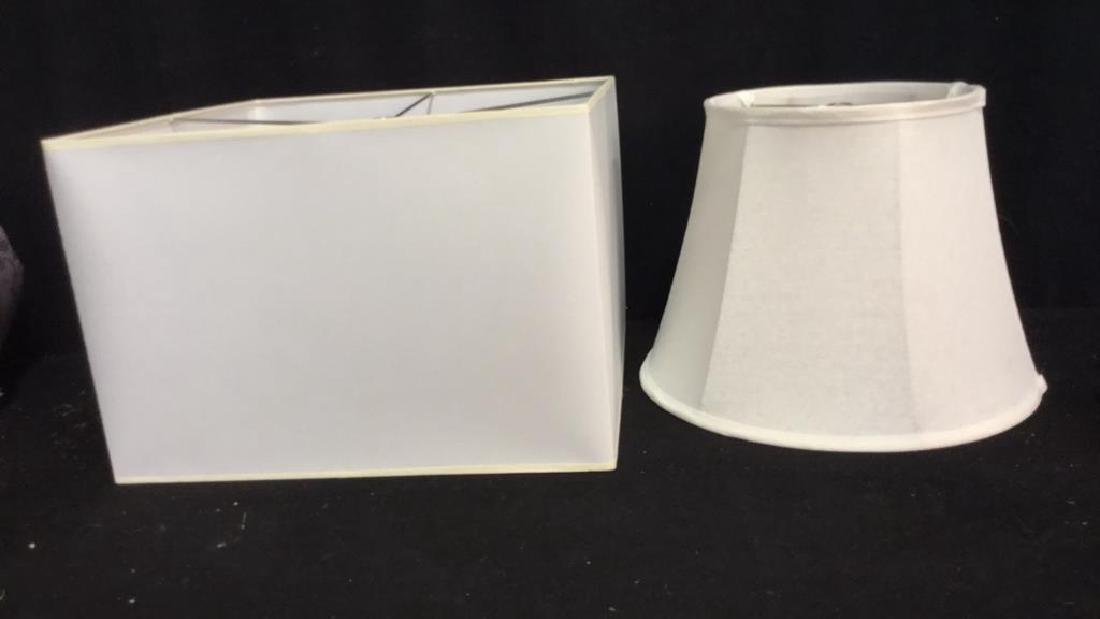 Group Lot 2 Lamp Shades White