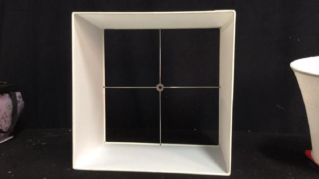 Group Lot 2 Lamp Shades White - 6