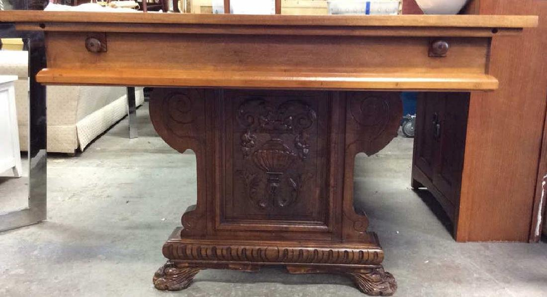 Vintage / Antique Trestle Refectory Table Dining table - 2