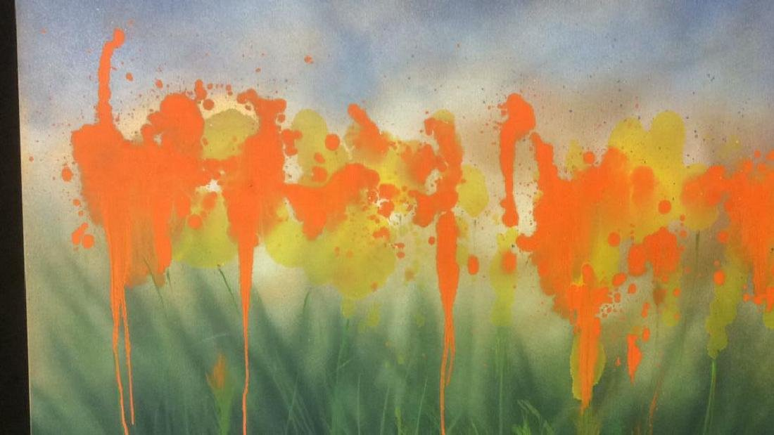 Petitti, Contemporary Abstract Mixed Media Canvas - 2