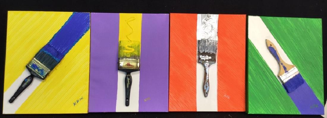 Petitti 4 Contemporary Mixed Media On Canvas Mixed