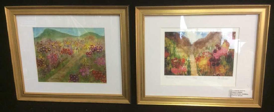 2 Petitti, Acrylic on Watercolor Giclee Prints Lot of 2