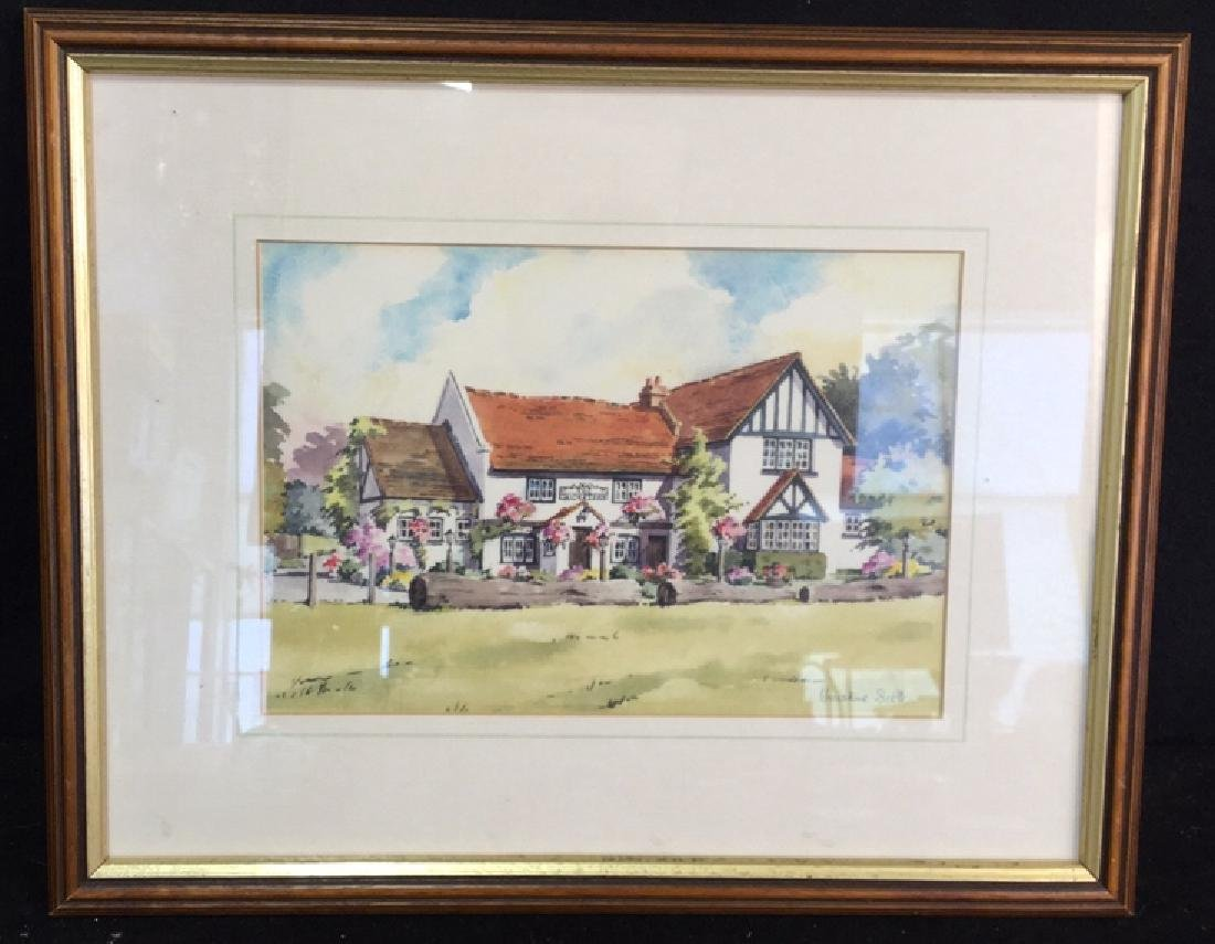 Framed Watercolor By Christine Scott Watercolor
