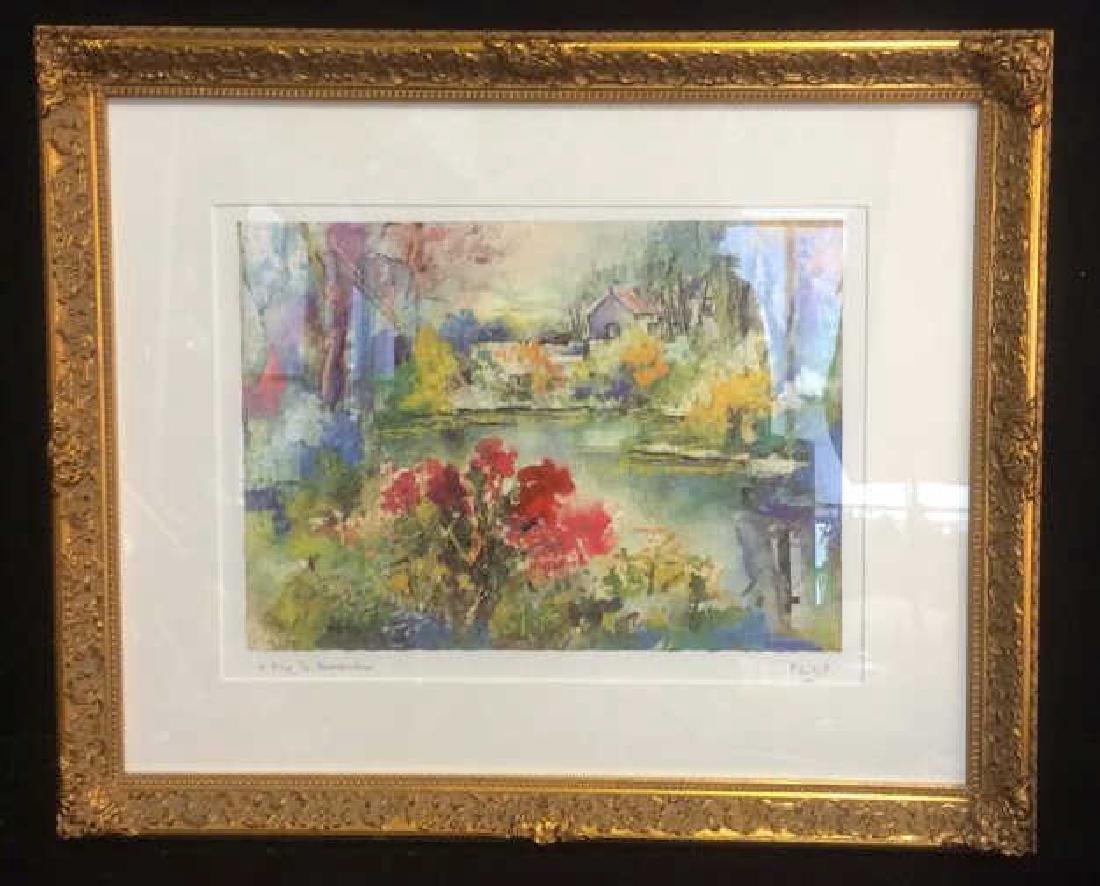 Philip, Watercolor Floralscape Signed Framed Signed