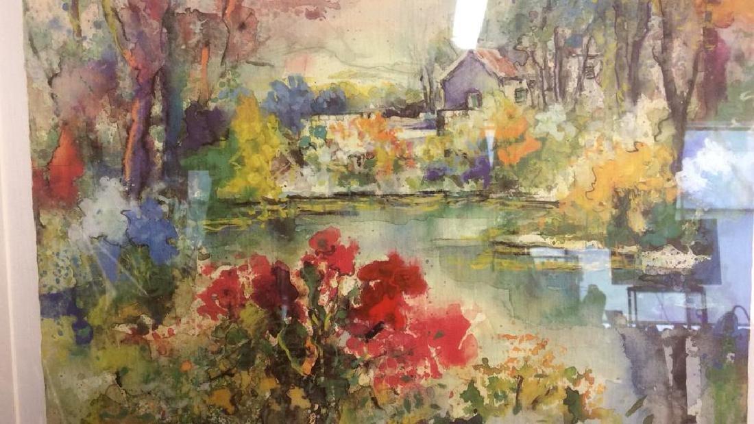 Philip, Watercolor Floralscape Signed Framed Signed - 2