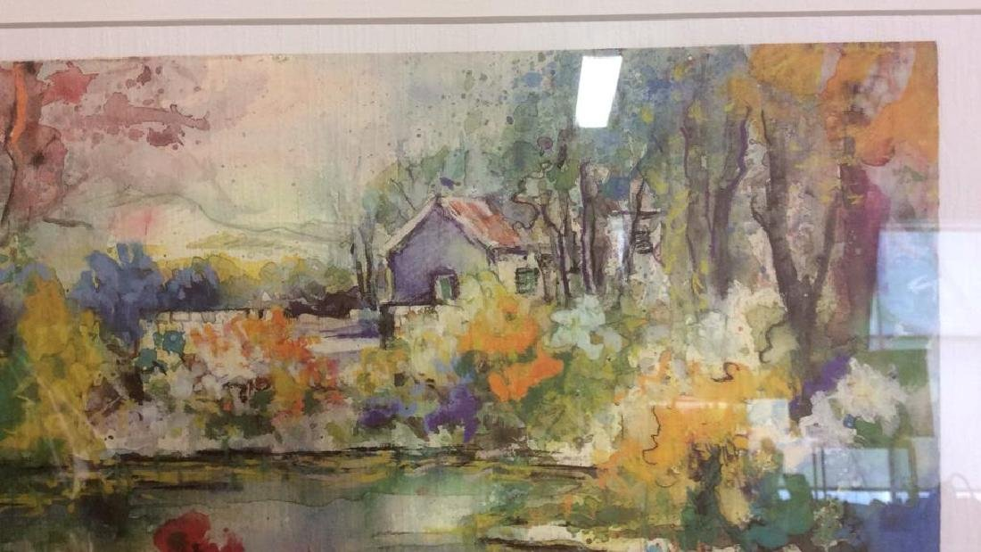 Philip, Watercolor Floralscape Signed Framed Signed - 3