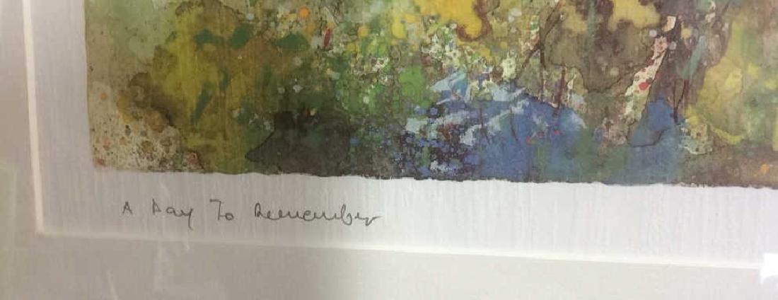 Philip, Watercolor Floralscape Signed Framed Signed - 5