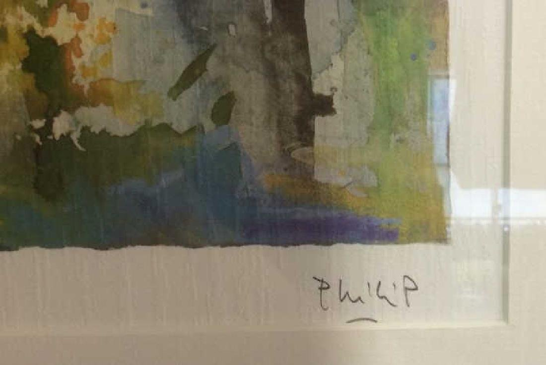 Philip, Watercolor Floralscape Signed Framed Signed - 6