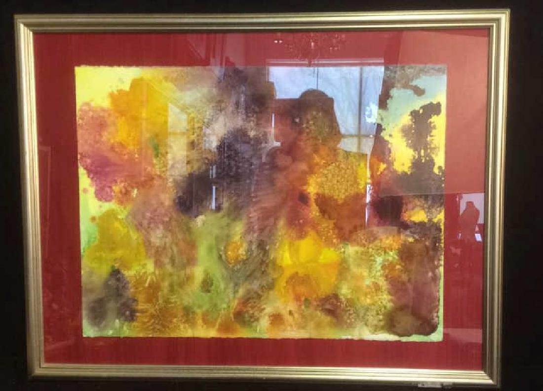 Petitti, Abstract Contemporary Watercolor Framed