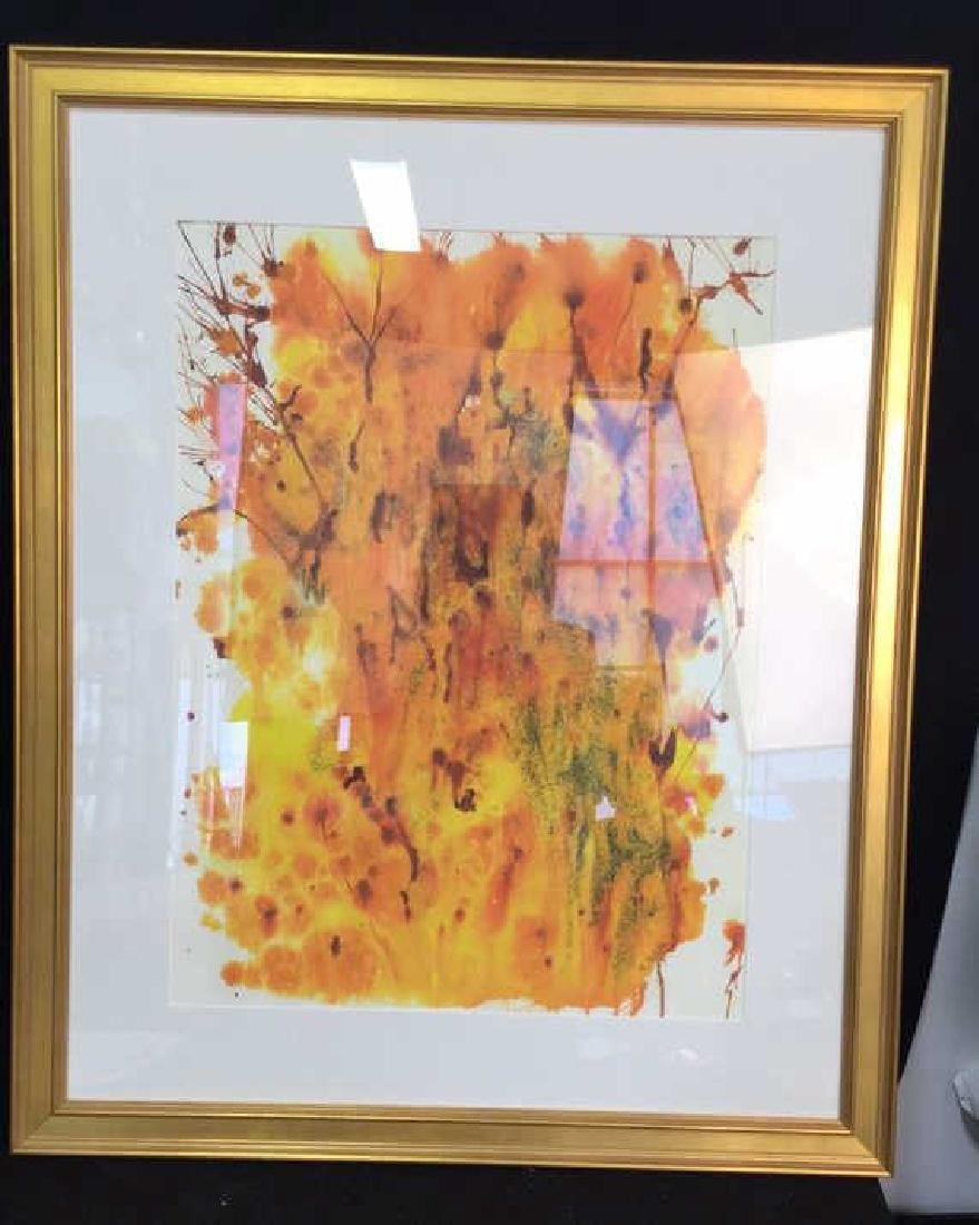 Petitti Original Framed Watercolor Original abstract