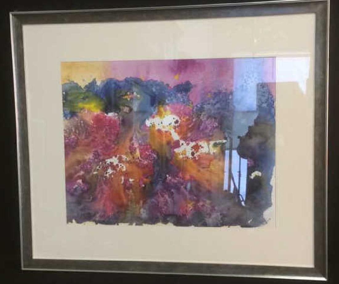Petitti, Contemporary Abstract Watercolor on Paper