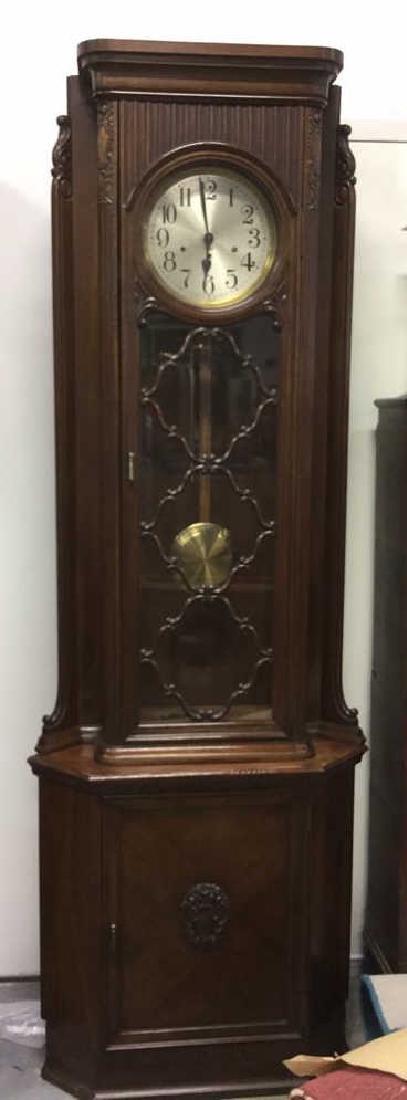 Antique Grandfather Clock Germany C 1920 Antique,