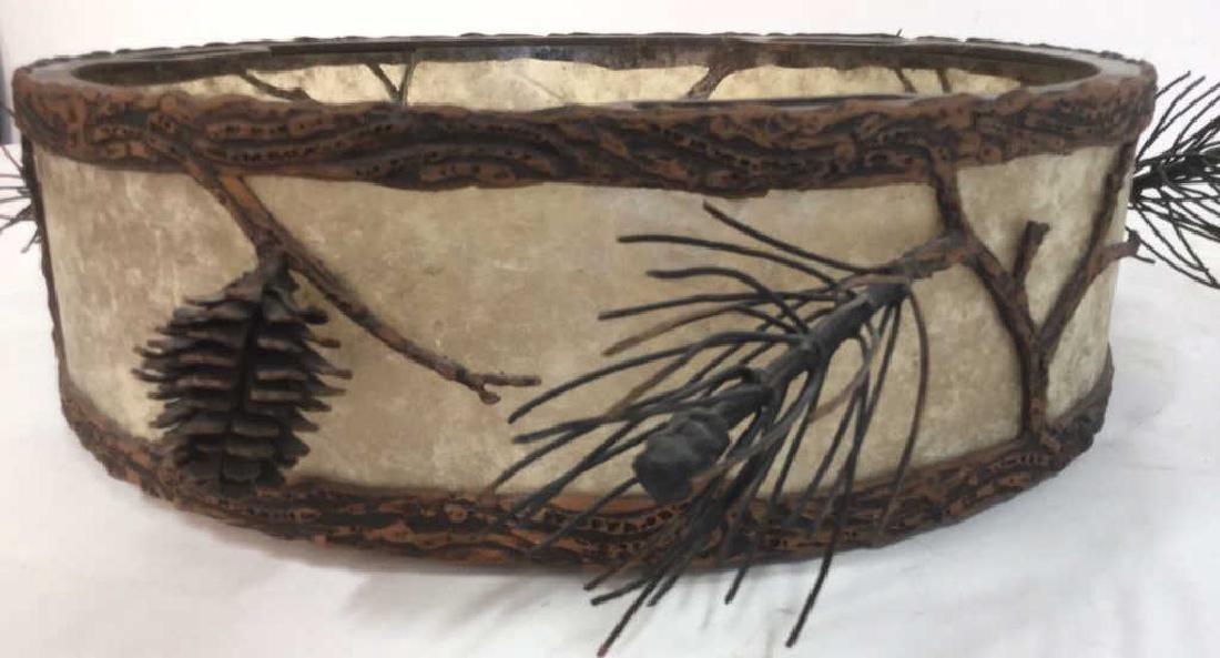 Adirondack Style Iron & Glass Centerpiece Bowl Arts &