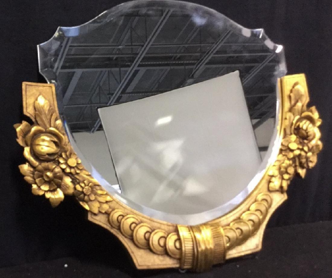 Art Deco styled Carved Gold Leaf Mirror 22 carat gold