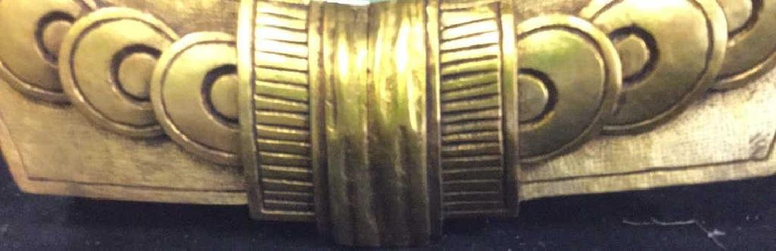 Art Deco styled Carved Gold Leaf Mirror 22 carat gold - 3