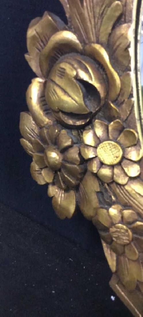 Art Deco styled Carved Gold Leaf Mirror 22 carat gold - 4