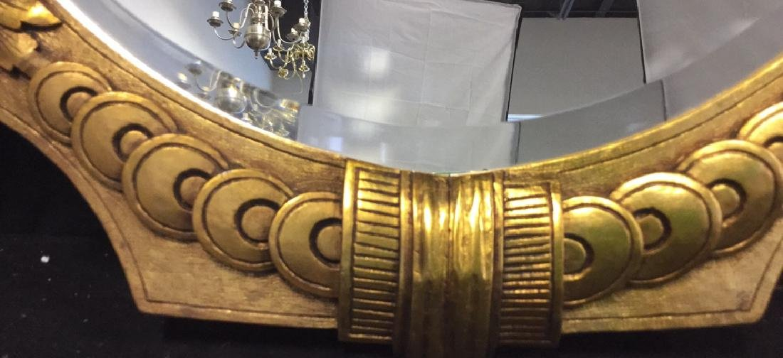 Art Deco styled Carved Gold Leaf Mirror 22 carat gold - 5