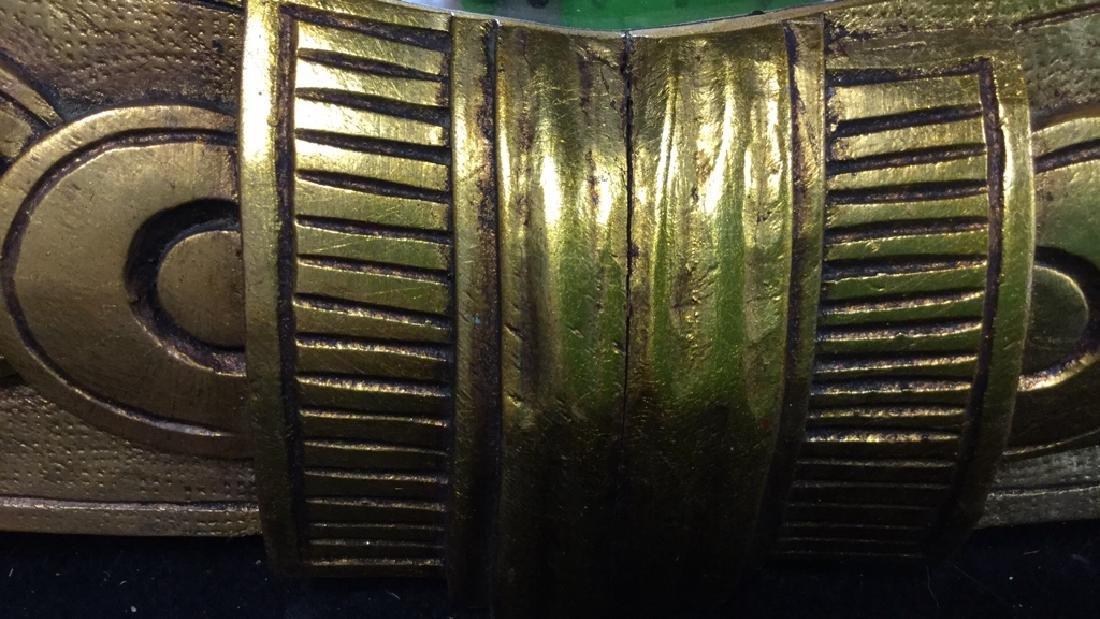 Art Deco styled Carved Gold Leaf Mirror 22 carat gold - 8